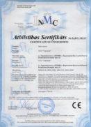 Сертификат соответствия директивам Евросоюза (СЕ) мясорубки МИМ