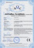 Сертификат соответствия директивам Евросоюза (CE) МПО-1