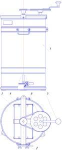 Медогонка двухрамочная М2-Рм