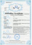Сертификат СЕ на миксеры планетарные МП